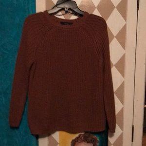 Rust/ copper colored crew neck sweaters